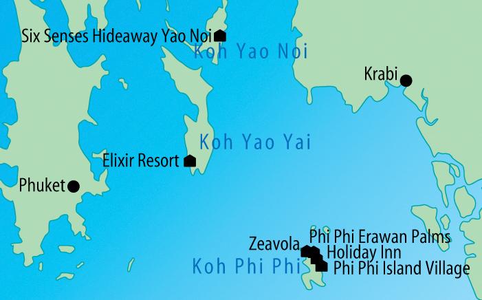 Phuket Koh Phi Phi Amp Khao Lak Cosmic Hochzeitsreisen